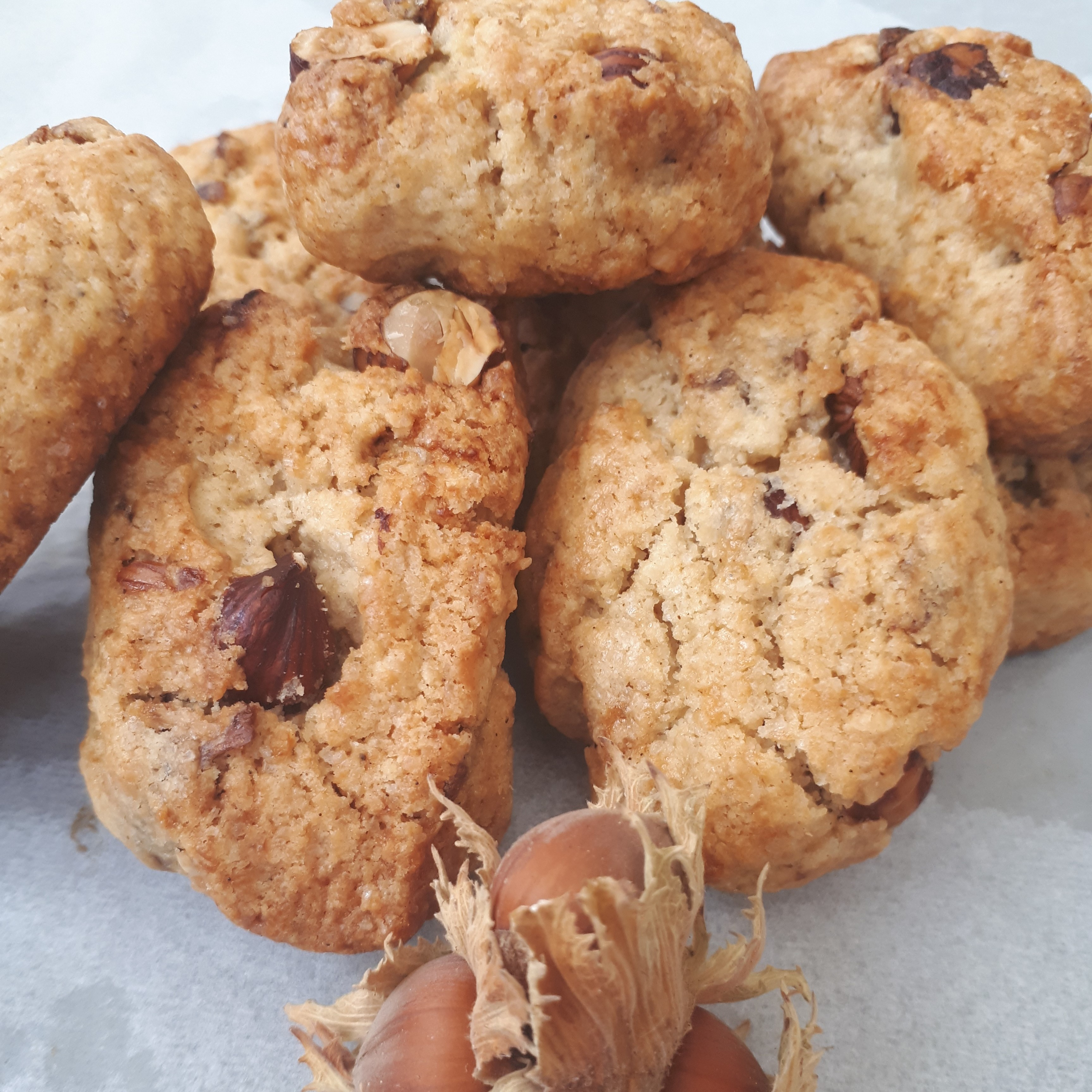 Cookies noisette carre