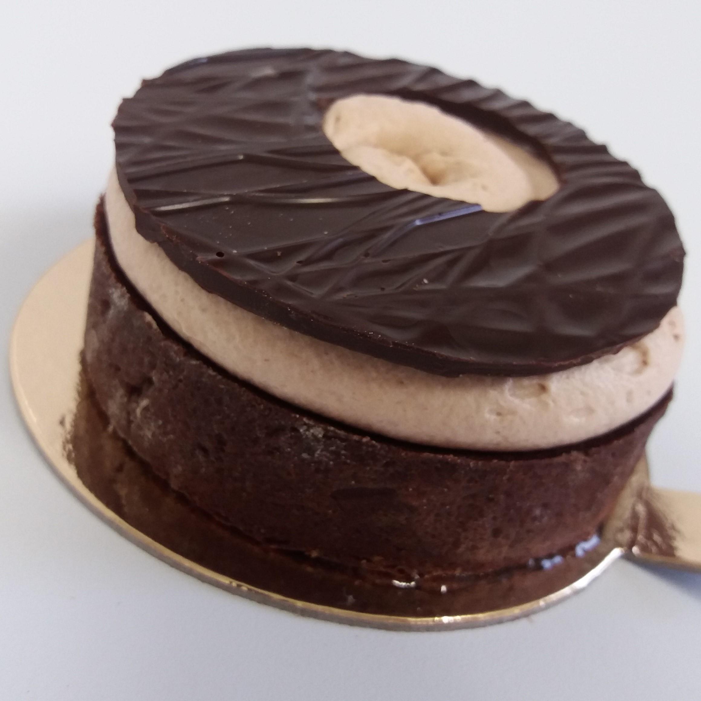 Tartelette tout chocolat carre