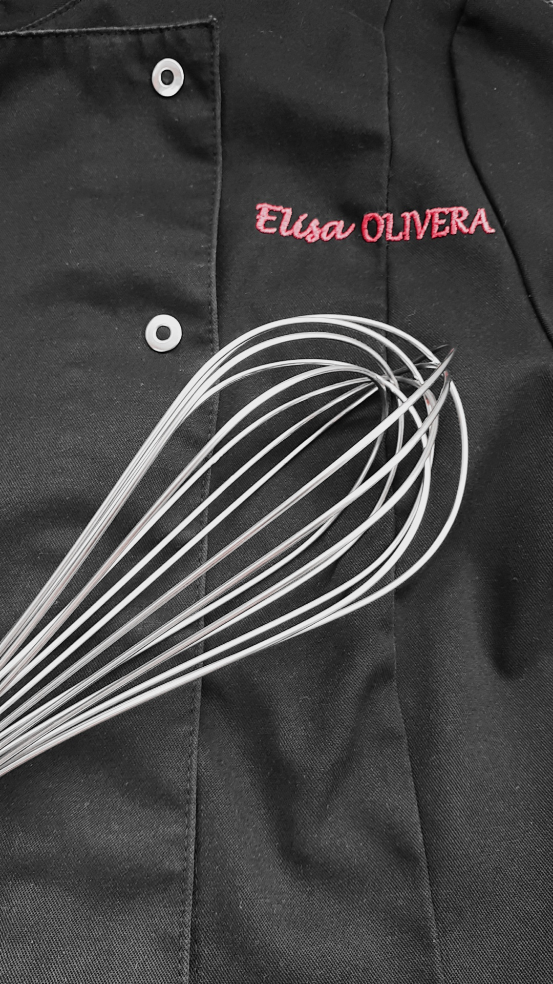 Veste Elisa fouet noir et blanc verticale