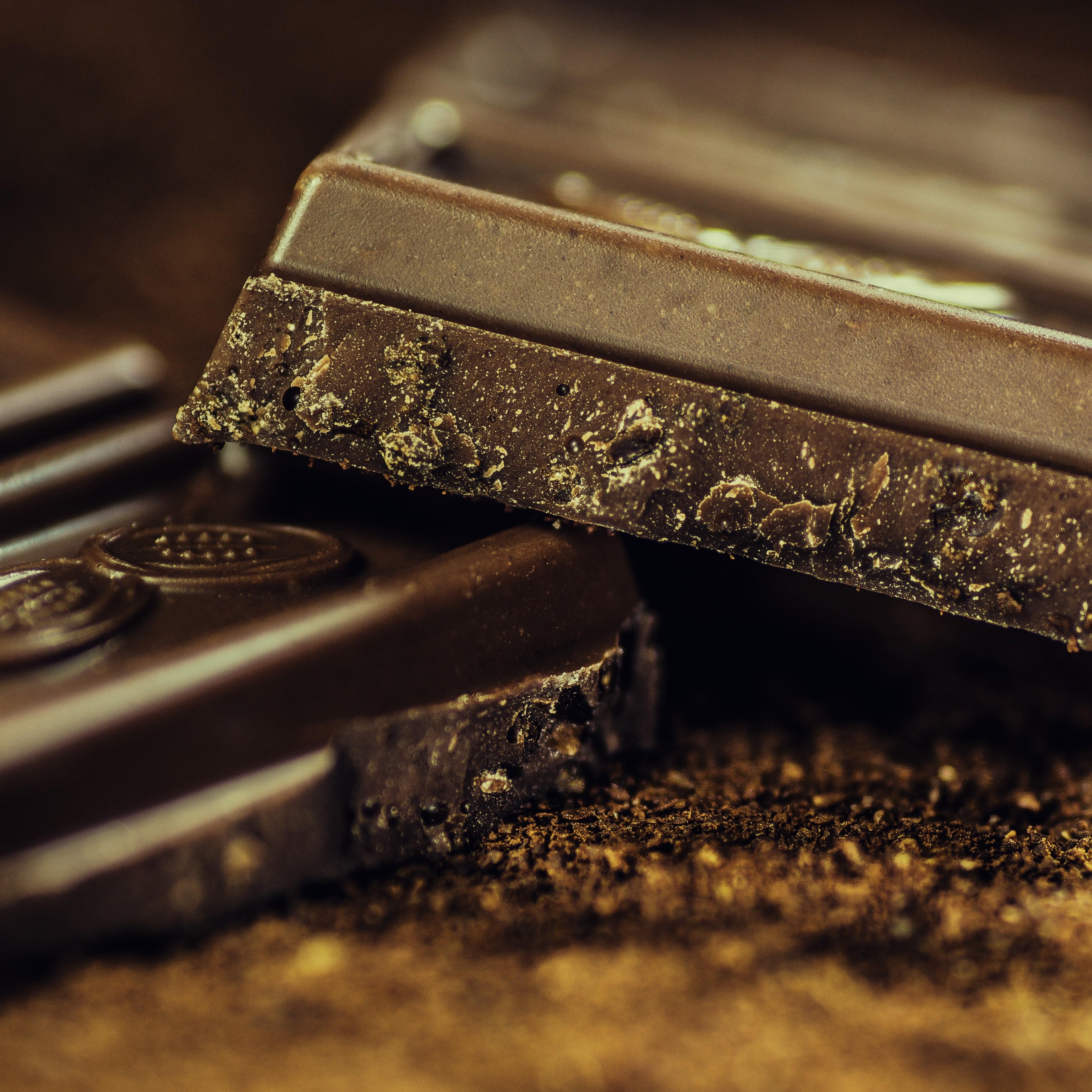 chocolat noir tablette carre