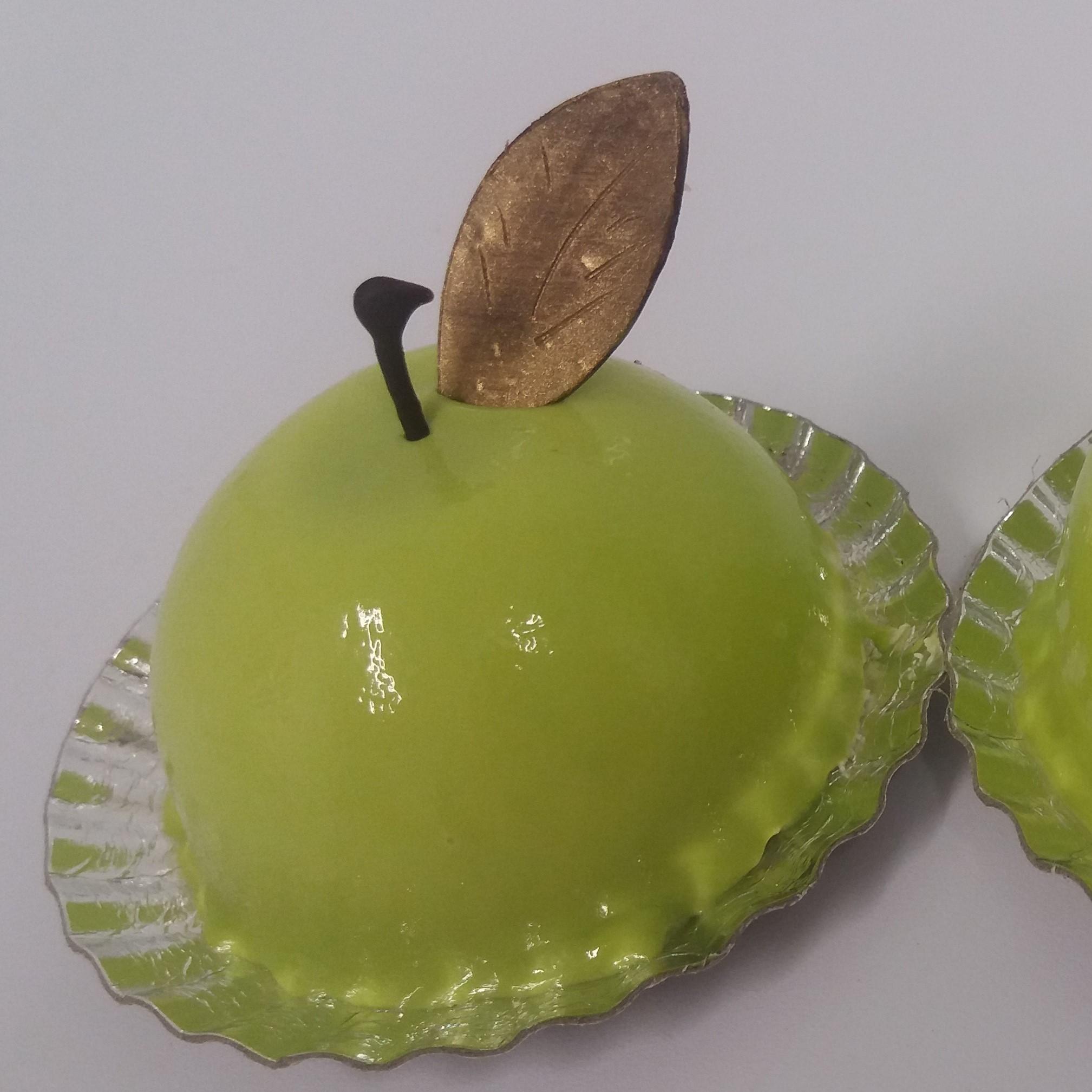 mousse pomme verte citron vert carre